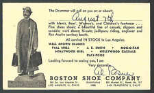 1950 PC LOS ANGELES CA BOSTON SHOE CO SALESMANS CALLING CARD
