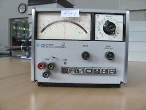 Hewlett Packard HP 419A DC Null Voltmeter Messgerät