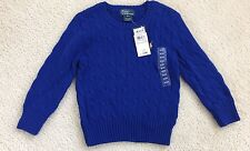 Little Boys Polo By Ralph Lauren Blue Sweater Size 3 / 3t New NWT Msrp $45