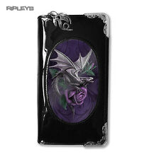 "Anne Stokes 3D Monedero Billetera Negro PVC fantasía gótica púrpura ""Dragon Beauty'"