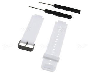 White Sports Silicon Watchband Wrist-Strap For Garmin Vivoactive Smart Watch UK