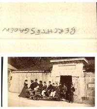Allemagne, Berchtesgaden Un groupe de personnes  CDV vintage albumen carte de vi