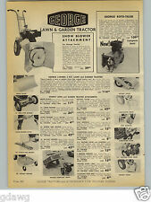 1954 PAPER AD George Brand Lawn & Garden Tractor Whiz Brush & Wood Saw
