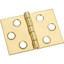 "25 Pk Solid Brass 2"" W X 1 1/2"" H Jewelry Box Chest Desk Hinge 2/Pk N211870"