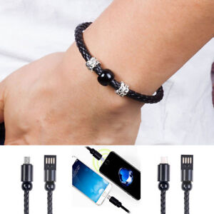 Bracelet Wrist Band USB Charger Data Sync Cable Fits Micro USB/Type-C/iPhone New