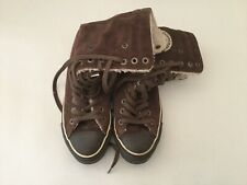 Converse All Star Ankle Boots Hi Tops Trainers shoes Suede Leather UK 5 Brown