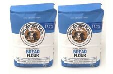 10 lbs - BREAD FLOUR by King Arthur -Unbleached for yeast bread White 2 5lb Bags