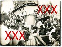 KREUZER EMDEN - orig. Foto, Linientaufe am 1. Januar 1927