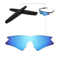 Polarized Ice Blue Replacement Lenses + Black Earsocks For Oakley M Frame Sweep