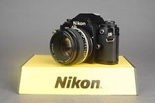 Nikon FG Camera Body 35mm SLR Film Camera w/ Nikon NIKKOR 50mm f/1.8 Lens