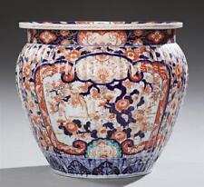 Large Imari Porcelain Jardiniere, 20th c., of ribbed baluster form, w. Lot 799