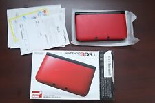 Nintendo 3DS LL XL console red boxed Japan system US seller