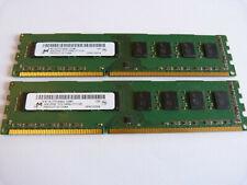 2x 4GB Micron MT16JTF51264AZ-1G6M1 8GB DDR3 1600MHz PC3-12800U PC RAM Kit