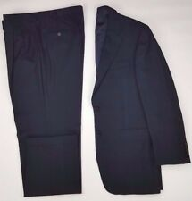 HICKEY Freeman SUIT Blue 40R Windowpane CHECK Hand TAILORED Wool USA Mens SIZE**