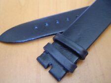 VINTAGE NOS LONGINES 18X16 MM BLACK LEATHER BAND                #5709
