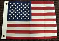 USA American Nylon Embroidered 12x18 Inch Boat Flag US Banner Pennant New
