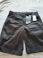 Lee Women's Mid Rise Relaxed Fit Flex to Go Mermuda Shorts Black Size 4M(30W)