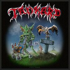 TANKARD - Aufnäher Patch One foot in the grave 10x10cm