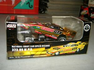 ACTION RACING COLLECTIBLES JOHN FORCE CASTROL GTX 7 TIME CHAMPION 1/64 FUNNY CAR