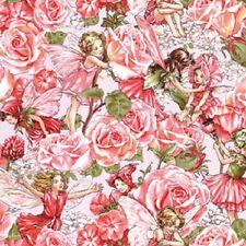 MICHAEL MILLER SWEET ROSE GARDEN FLOWER FAIRIES FABRIC