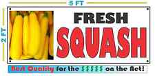 Full Color Fresh Squash Banner Sign New Xl Larger Size Summer Yellow