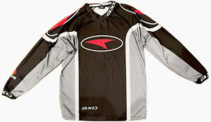 AXO Motocross Racing Dirt Bike Men's Long Sleeve Riding Shirt Black RARE Size XL