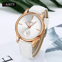 GAIETY Womens Ladies Watches Leather Band Rose Gold Case Quartz Wrist Watch