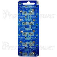 10 x Renata 317 Silver oxide batteries 1.55V SR516W Watch 0% Mercury