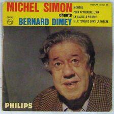 Michel Simon chante Bernard Dimey 45 tours 1961
