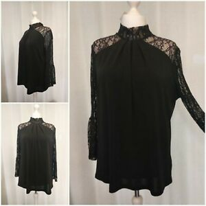Next Black Lace Evening Top Size 22 Brand New With Tags