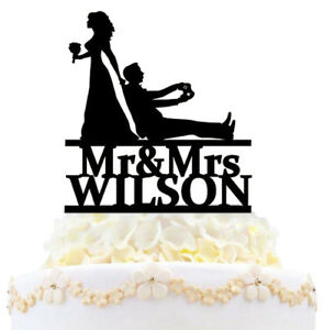 Personalized Game Wedding Cake Topper Mr And Mrs Game Controller Bride Groom New