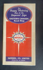 1937 Eastern Canada road map Imperial oil  gas