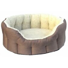 P&L Superior Country Dog Heavy Duty Waterproof Oval Drop Front Softee Dog Bed S4