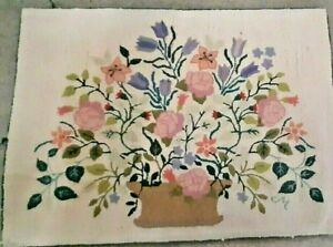 """LARGE Claire Murray Hooked Rug - FLORAL BASKET - 35"""" x 48"""""""
