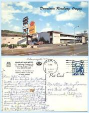 Douglas Inn Motel Roseburg Oregon Retro AAA Advertising Postcard