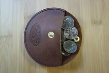 LEATHER COIN PURSE POUCH,HANDMADE possibles bag,earbud holder. cord keeper. sta