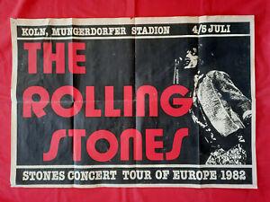 +++ 1982 ROLLING STONES Concert Poster Germany Köln July 4th Vintage!