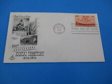 1954 100th Anniversary Kansas Territory 1854-1954 Fort Leavenworth KS FDC S2895