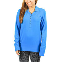Women's PUMA Golf Seamless Long Sleeve Blue Aster Polo Shirt size XS (T44) $65