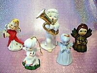 *RARE VTG LOT 5 Lefton Japan Christmas Angel Girl Extravaganza Figurines