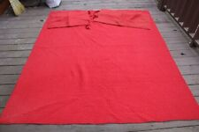 Pottery Barn Red Pick-Stitch Twin Cotton Linen Bedspread Quilt Blanket Shams