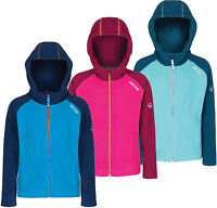 Regatta Upflow Kids Hooded Fleece Girls Boys Full Zip Jacket