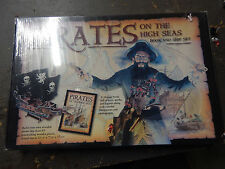 Pirates on the High Seas Book and 3-D Wooden Model Pirate Ship Kit 8+ new SEALED