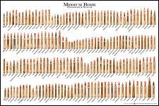 "MEDIUM BORE AMMUNITION BULLET AMMO CARTRIDGE COLLECTOR HUNTER POSTER 24"" x 36"""