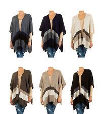 Lange Damen-Pullover & -Strickware im Ponchos-Stil aus Wolle