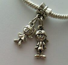 Little Boy Girl Son Daughter Kids Twins Dangle Bead for European Charm Bracelet