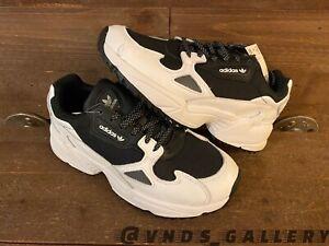 Woman Adidas Originals Falcon Trail White Black EF9024 Sz 7 New