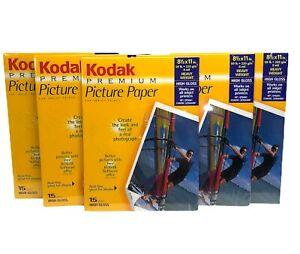 Kodak Premium Picture Paper Inkjet Printers Acid-Free Photo High Gloss 75 Pages!