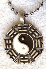 YIN YANG Feng shui mens boys girls Silver colour Ball Chain necklace   PC0321