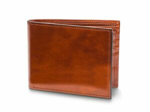 Bosca Old Leather Bifold Wallet With Card / I.D. Flap Amber NEW BOX